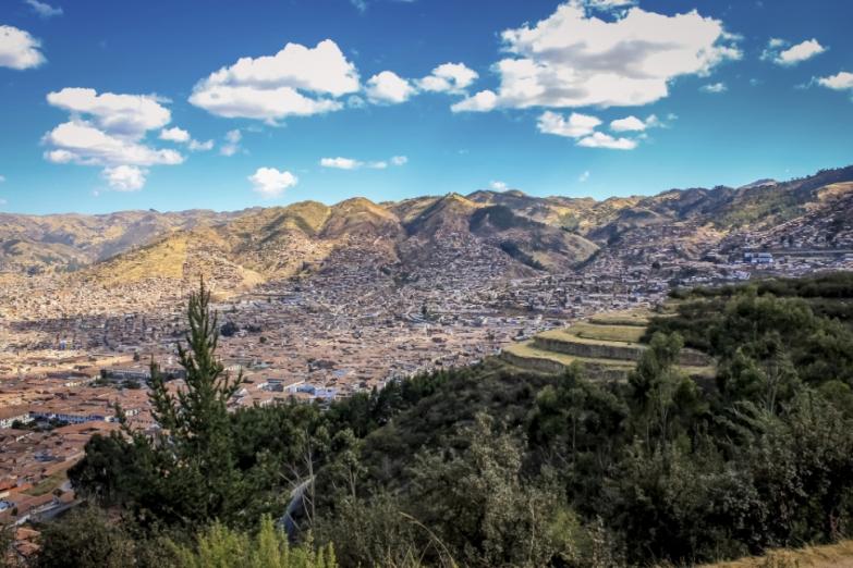 Вид на город Куско