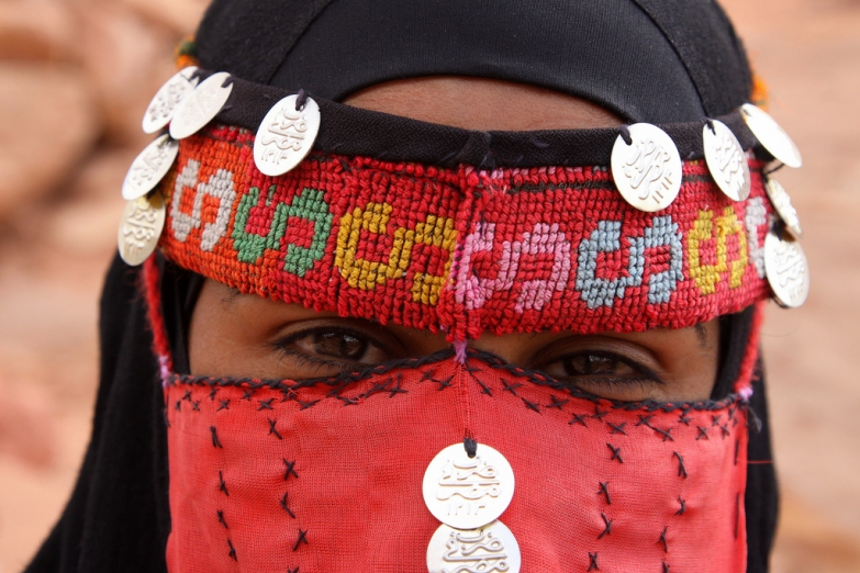 Бедуинская женщина в традиционном наряде