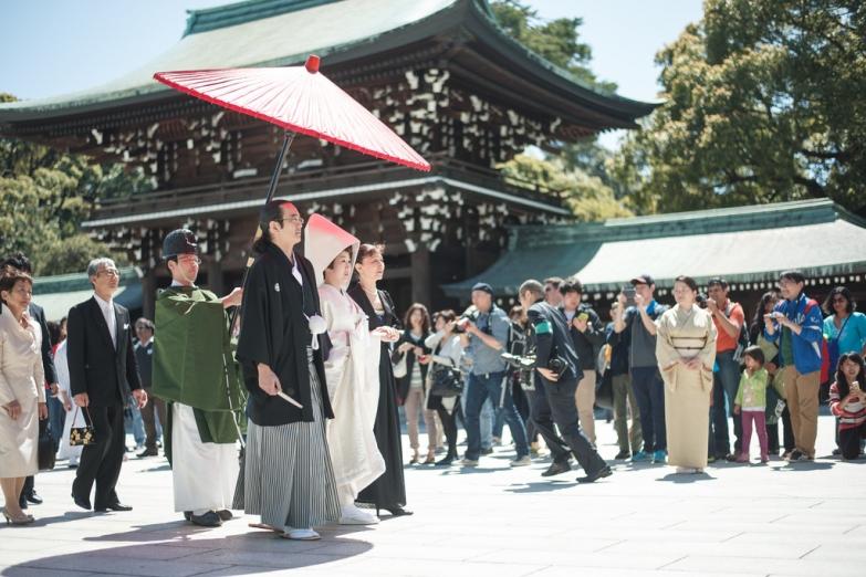 Свадьба в синтоистском храме