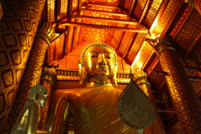 Статуя Будды в храме Панам Чоенг в Аюттайе