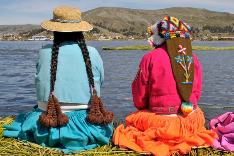 Перуанки в национальных нарядах