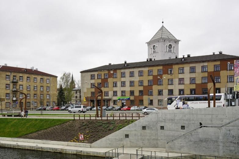 Набережная в Елгаве