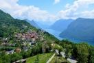 Вид на Лугано с горы Бре