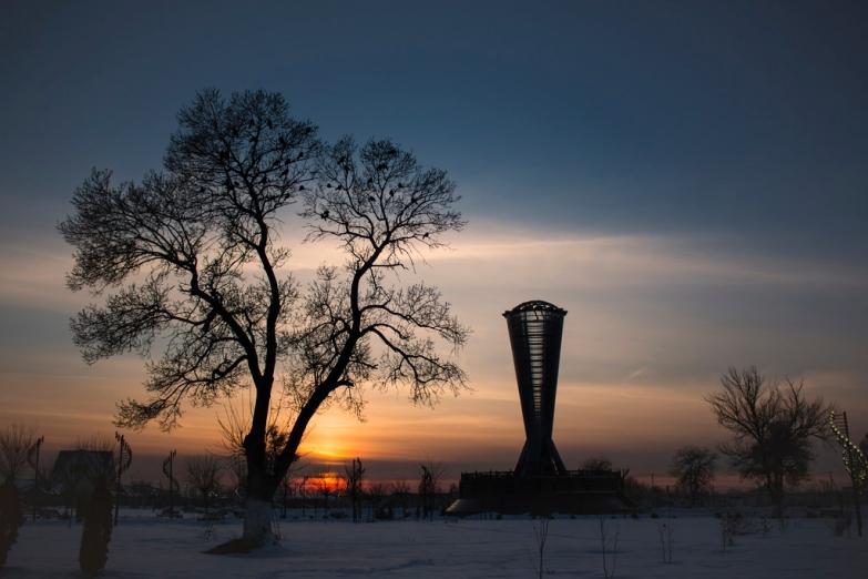 Зимний парк в Шымкенте