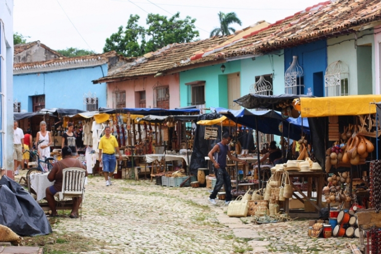 Уличный рынок в Тринидаде