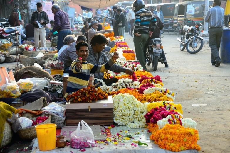 Цветочный рынок  Джайпуре