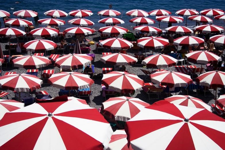 Пляжная зона в Амальфи