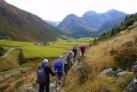 Пешие прогулки по склонам гор рядом с Давосом