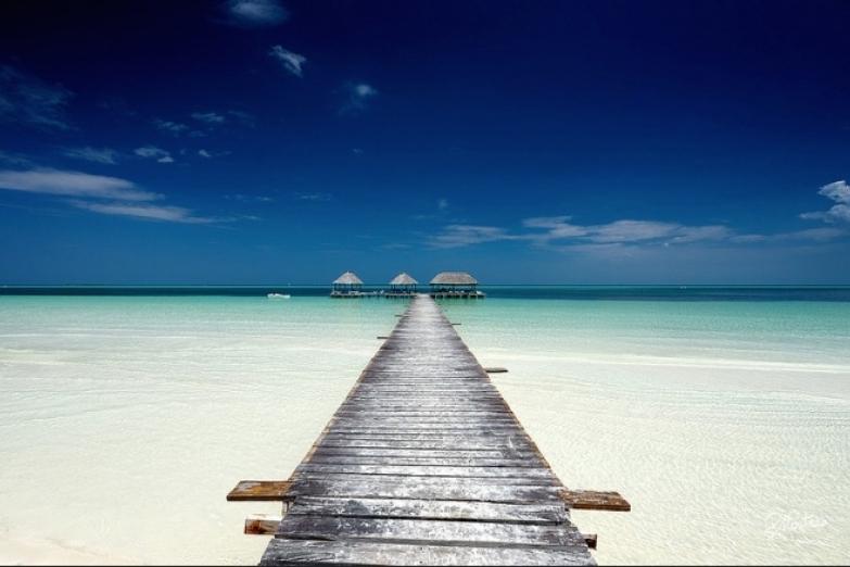 Вид на пляж Кайо-Гильермо