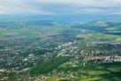 Вид на Ессентуки с воздуха