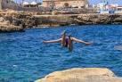 Прыжок с морского утеса