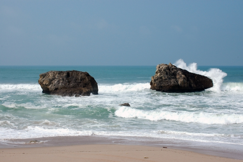 Морской пейзаж в Биаррице