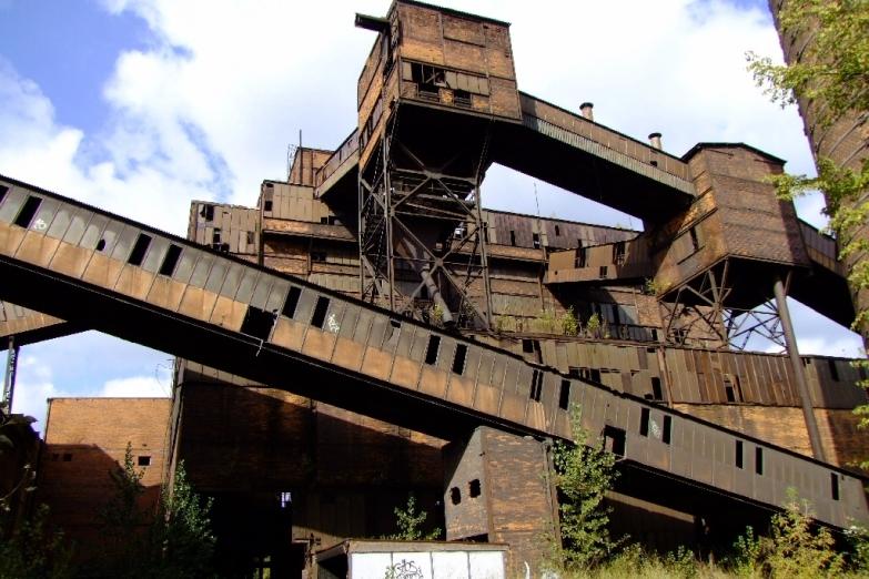 Завод в индустриальной зоне Остравы
