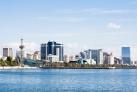 Вид на современный Баку