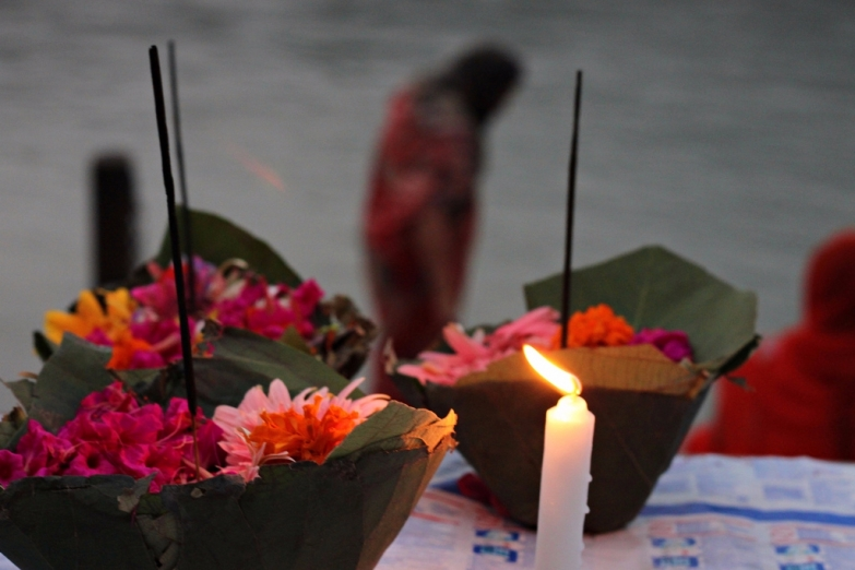 Молитвенные корзиночки с цветами