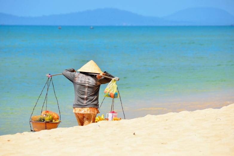 Пляжный торговец