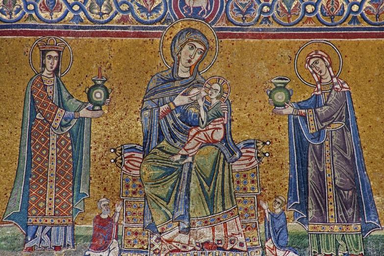 Дева Мария - раннехристианская мозаика