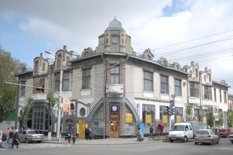 Старинное здание аптеки в Ставрополе