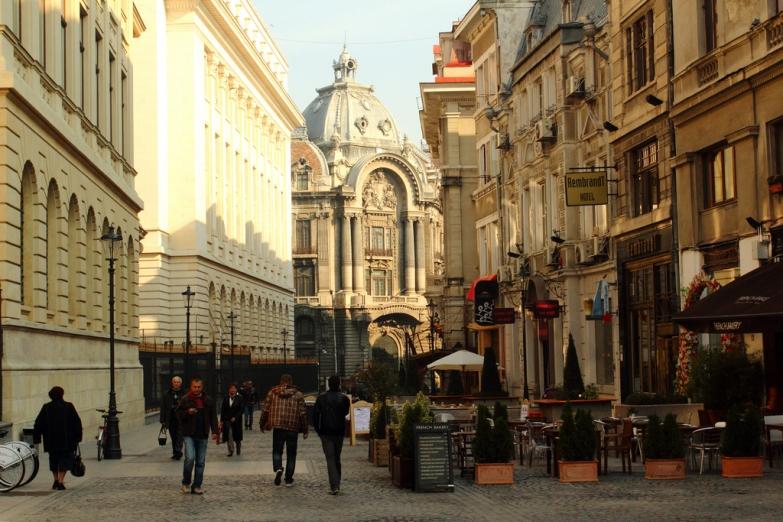 Уличная прогулка по Бухаресту