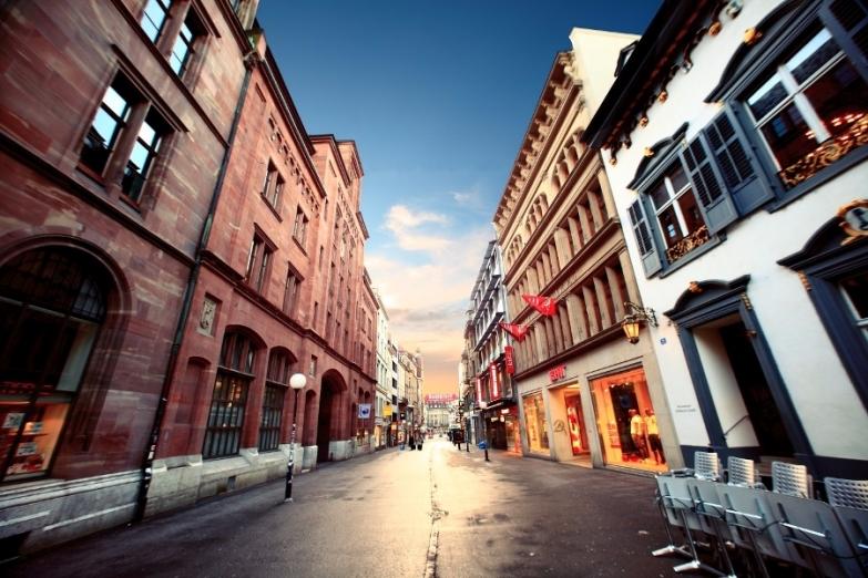 Урбанистический пейзаж в Базеле