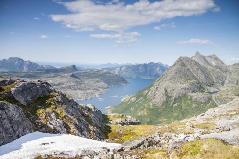 Вид на норвежские фьорды