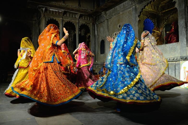 Традиционные танцы в городе Уйдапур