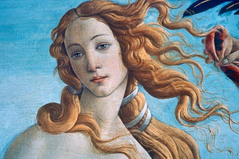 Картина «Рождение Венеры» в галерее Уффици
