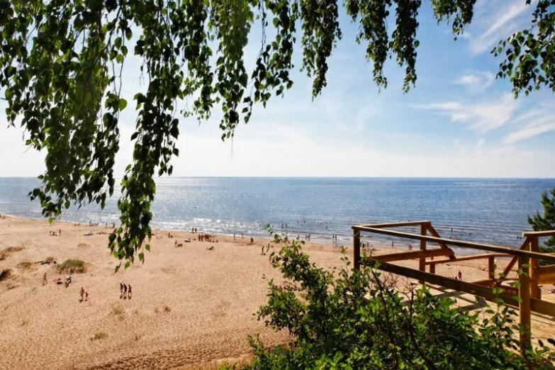 Пляж Саулкрасты