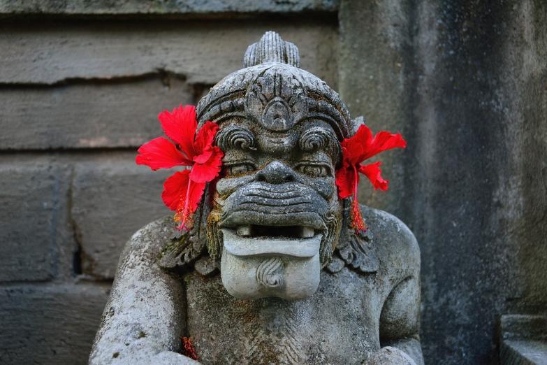 Статуя в Обезьяньем лесу Убуда