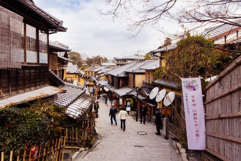 Улочка в традиционном квартале Киото