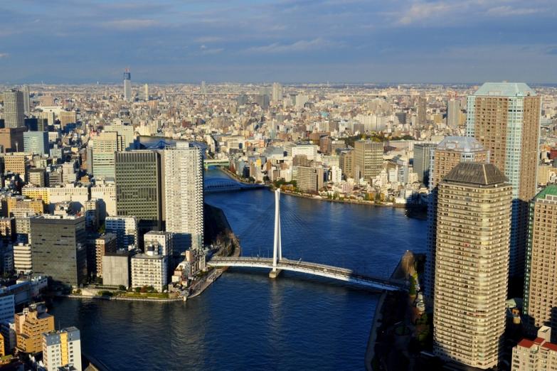 Река Сумида в Токио