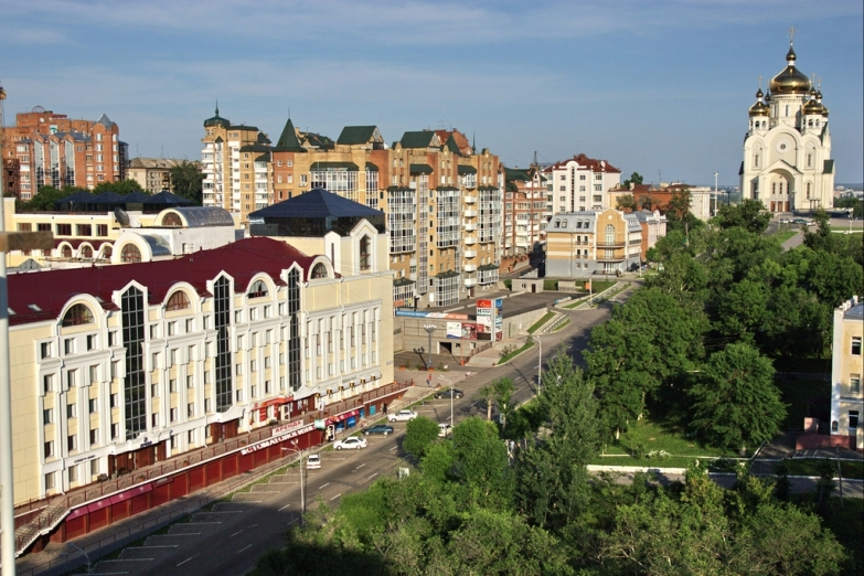 Проспект в Хабаровске