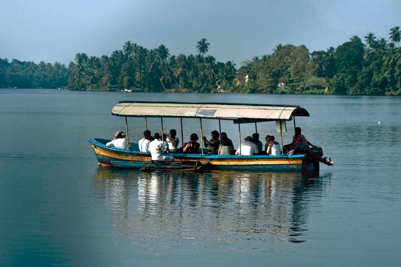 Туристы на речном сафари