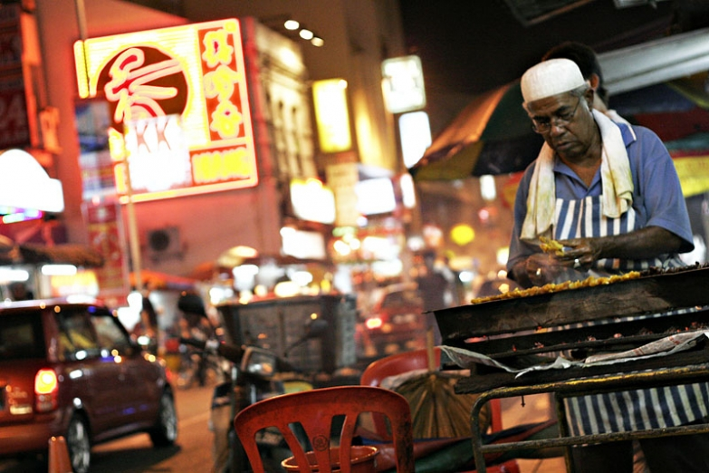 Уличный торговец едой