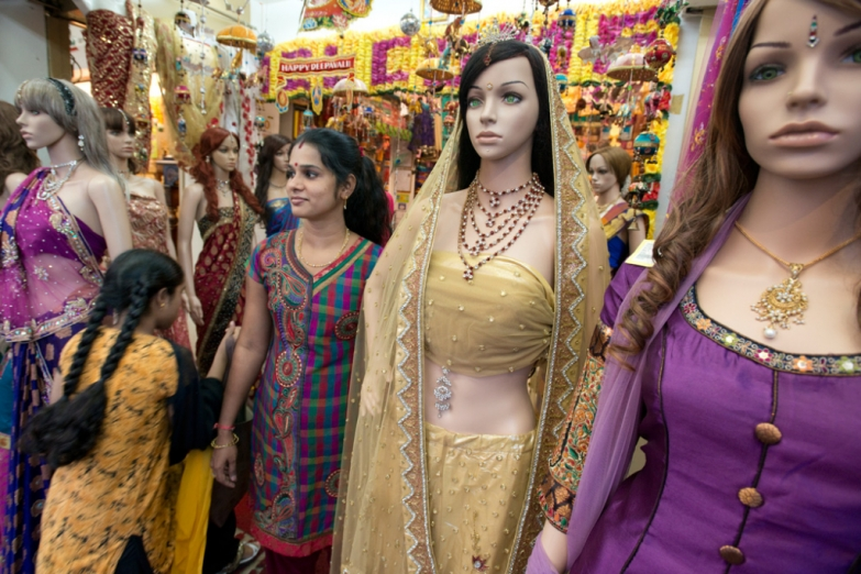 Магазин платьев в районе «Маленькая Индия»