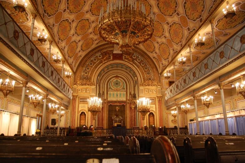 Внутри главной синагоги Бухареста