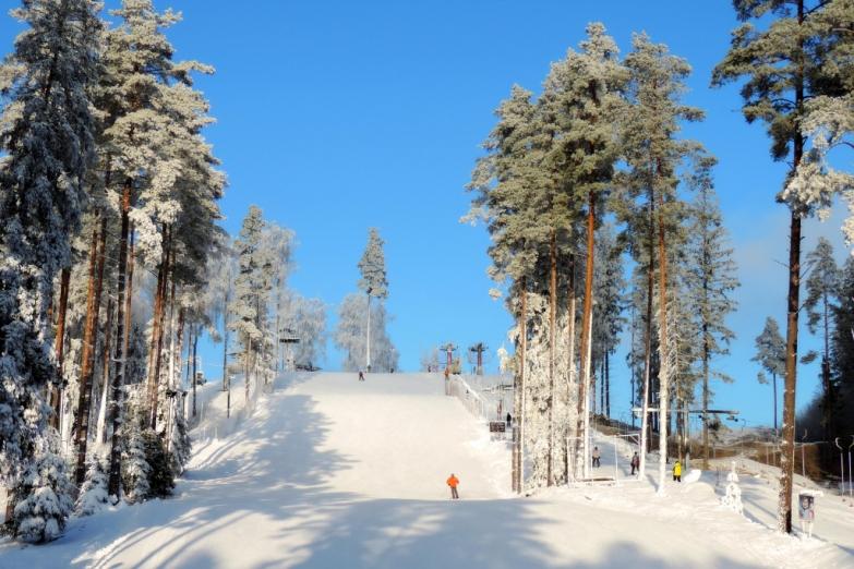 Лыжная трасса в Латвии