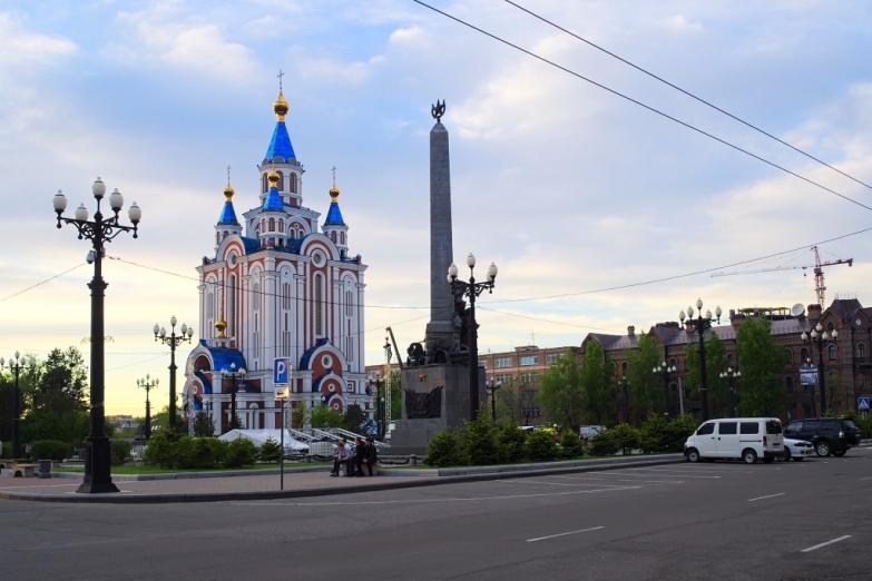 Соборная площадь в Хабаровске
