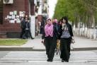 Женщины на улицах Грозного