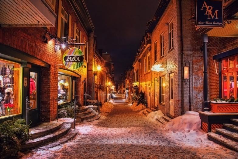 Улицы Квебека в канун Рождества