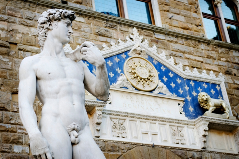 Давид Микеланджело на площади Синьории
