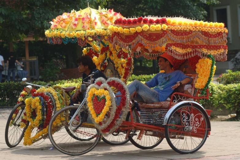 Велорикша в туристическом центре Малакки