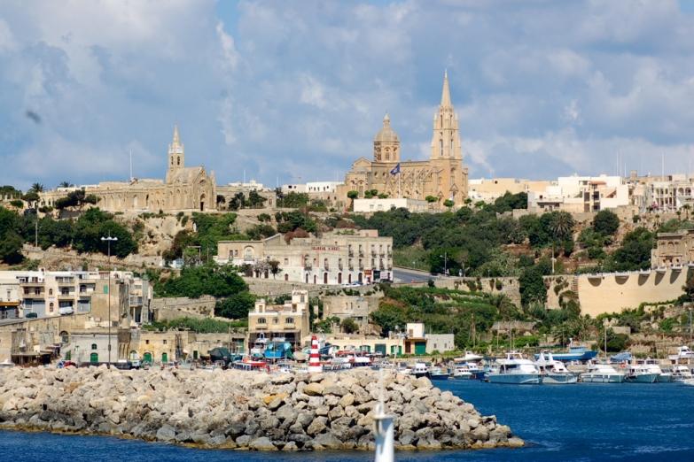 Город Мджарр на северо-западе Мальты