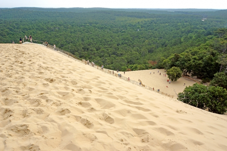 Подъем на дюну в Аркашоне