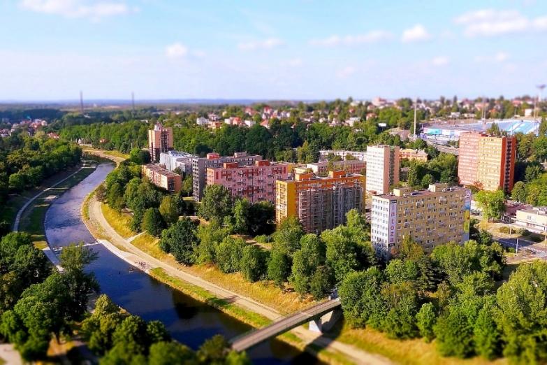 Вид на город со смотровой площадки Новой ратуши