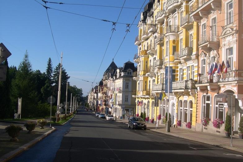 Новоренессансные постройки на улицах бывшего Мариенбада
