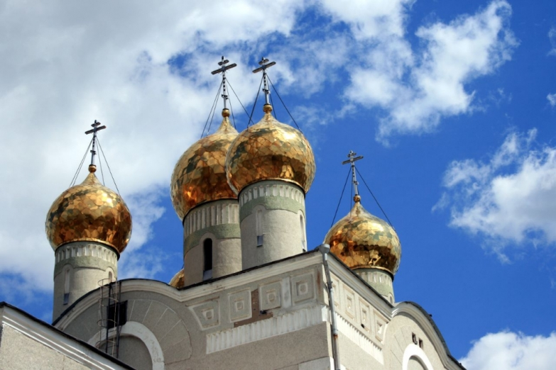 Купола Свято-Введенского собора
