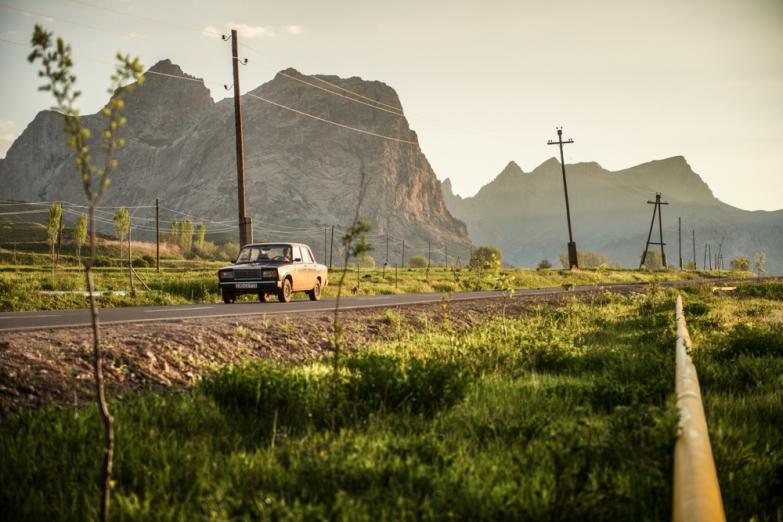 Дорога в горах Азербайджана