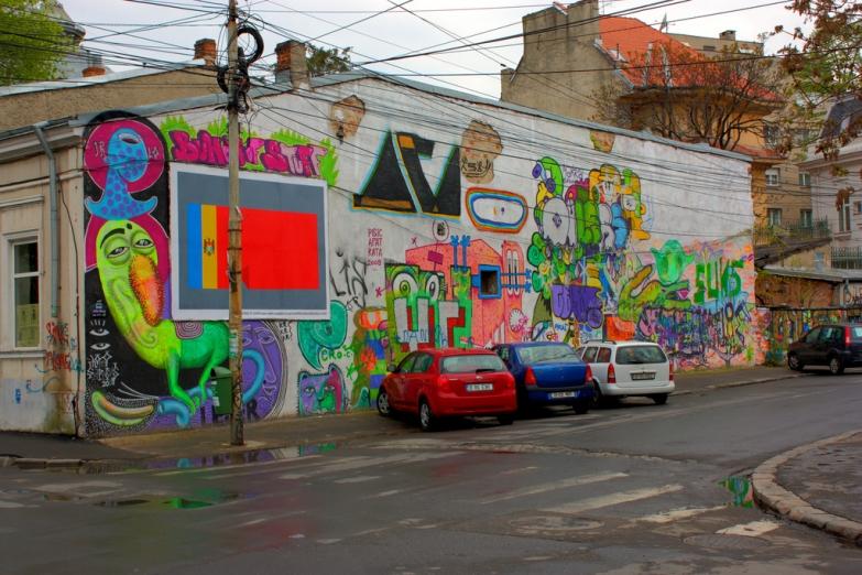 Граффити на стенах