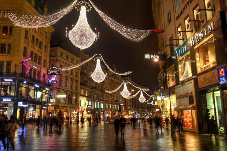 Рождественские улицы Вены